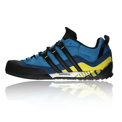 Adidas Terrex Swift Solo Mens Blue Trail Outdoors Walking Hiking Shoes