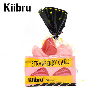 Colossal Strawberry Cake Kiibru Squishy Slow Rising Cream Scented Authentic Toys