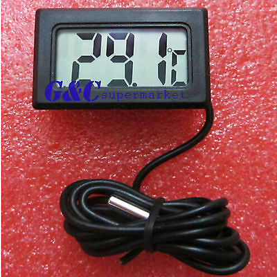 1/2/5 Black Aquarium Temperature Gauge Lcd Digital Thermometer For Fish Tank M10
