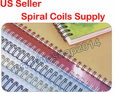 100sheets 1/2inch 12.7mm Metal Spiral Coils Punching Binding Material Supply