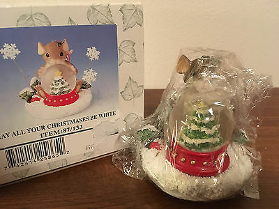 Charming Tails May All Your Christmases Be White Figurine 87/133 NIB