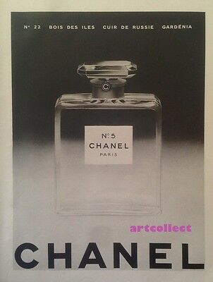 Original Vintage French Ad (1953): Chanel No.5. Guerlain, Shalimar. Perfume.
