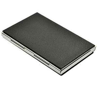 HOT Black PU Leather&Stainless Steel Metal Business Name Card Case Card Holder U