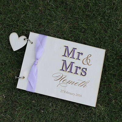 Personalized Wood Wedding guest book,Classic wedding guestbook valentine gift