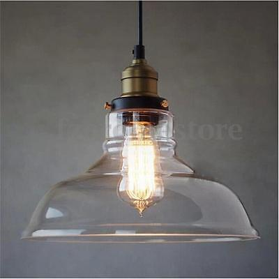 E27 Clear Glass Ceiling Vintage Retro Chandelier Fitting Pendant Lampshade Light