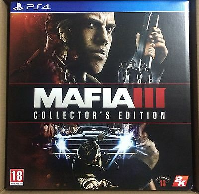 Mafia 3 Iii Collector's Edition Ps4 New Sealed Pal Uk English Collectors