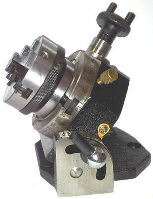 """Rotary Table Tilting 3"""" / 75mm with 65mm Lathe Chuck for Milling Machine"""
