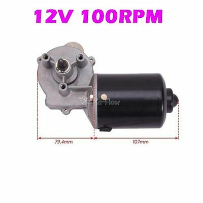High Torque Electric Gear Motor 12v Low Speed 100 RPM Gearmotor DC