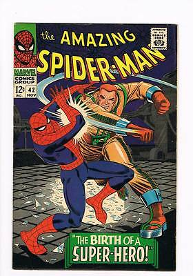 Amazing Spider-Man # 42  The Birth of a Super-Hero !  grade 7.5 scarce book !