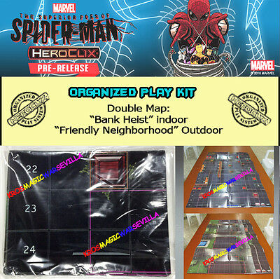 "MARVEL HEROCLIX THE SUPERIOR FOES OF SPIDER-MAN OP KIT: Mapa/Map ""Bank Heist"".."