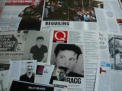 Billy Bragg - Magazine Cuttings Collection (Ref Zf)