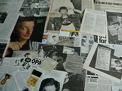 Billy Bragg - Magazine Cuttings Collection (Ref Xd8)