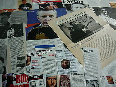Billy Bragg - Magazine Cuttings Collection (Ref Xd)