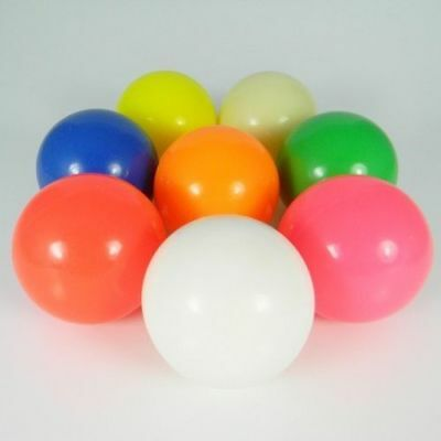 New Stage Juggling Ball 70Mm Hollow Neon Colours Uv Reactive Zero Bounce