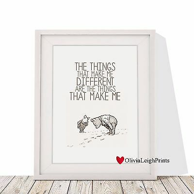 Winnie The Pooh And Piglet Word Art Quote Print-Wall Art-Gift-Nursery-Baby