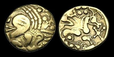 CE-DDPD - NORTH WEST GAUL, Aulerci Eburovices, Gold Hemistater, ca.225-175BC.