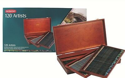 Derwent Artist Coloured Pencils Wooden Box Set 120 Derwent Artist Pencils]