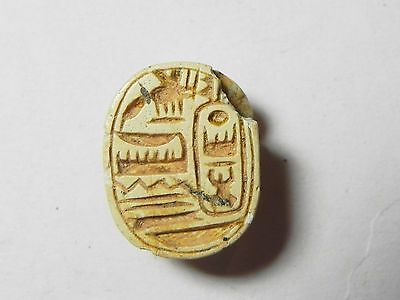 Zurqieh -Af839- Ancient Egypt , New Kingdom Stone Scarab. 1400 B.c