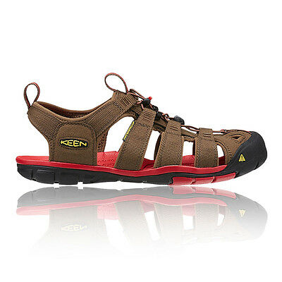 Keen Clearwater CNX Mens Brown Water Resistant Walking Hiking Sandals Shoes