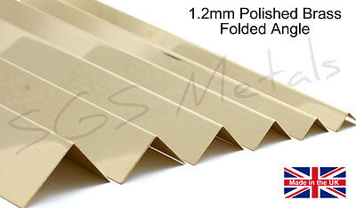 1.2mm thick Brass Folded Angle Corner Protector