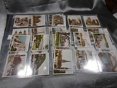 1st Series 48 REAL PHOTOGRAPHS VIEWS OF INTEREST R&J Hill cigarette cards