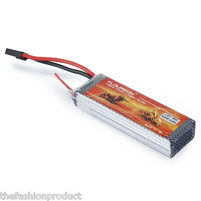 6200mAh 2S 7.4V 40C Li-Po RC Battery Pack For RC Airplane Helicopter Car Hobby