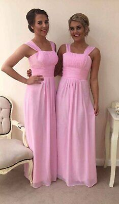 Pink Bridesmaid Wedding Formal Evening Ball Long Short Maxi Party Prom New Dress