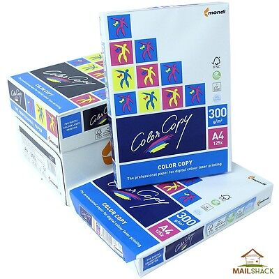 Color Copy A4 White Paper PREMIUM 300gsm Printing 1 2 3 4 5 Reams Of 125 Sheets