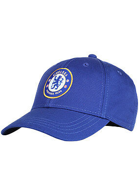 Official Chelsea FC Cap. Football Merchandiese. Adults Blue Baseball Hat - OF402