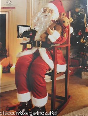 New Large Santa/Father Christmas in Rocking Chair 75cm High. Room Decoration