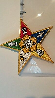 Order of the Eastern Star 2 3/4 inch approximately patch embroidery