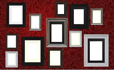 Black White Pewter Photo Picture Frame With Mount Multi Aperture Poster Frame