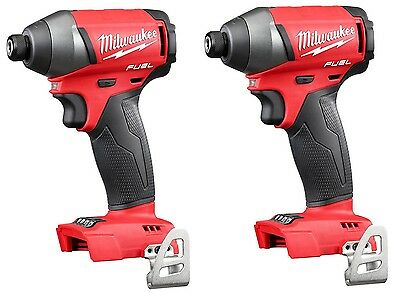 "(Qty 2) Milwaukee 2753-20 M18 FUEL 18V Li-Ion Brushless 1/4"" Hex Impact Driver"