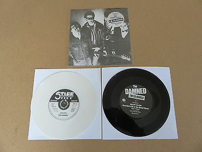"THE DAMNED New Rose STIFF 7"" RARE 1986 UK WHITE VINYL & MISPRINTED ONE SIDED 7"""