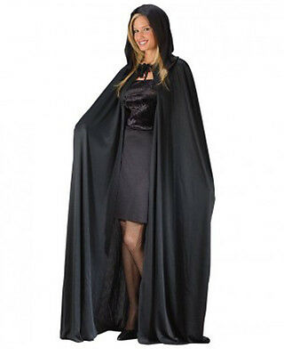 Black Hooded Adult Cape 1.7M