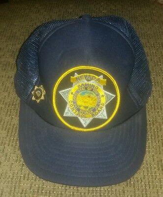 NEVADA GAMING CONTROL BOARD State Agent Investigator Casinos HAT CAP patch & pin