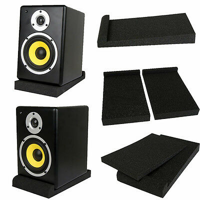 2pcs Acoustic Foam Pad For 5/6 Inches Monitor Speaker Sound Absorption Dampening