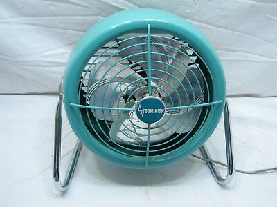 Vintage Retro Dominion Art Deco Aqua Table Stand Torpedo Mid-Century Modern