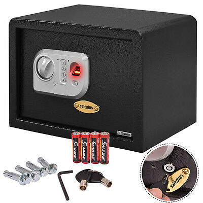 14'' Biometric Fingerprint Electronic Digital Wall Safe Box Keypad Lock Security