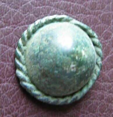 Ancient Lake Ladoga VIKING Artifact > Bronze Belt Decoration Fitting AA51