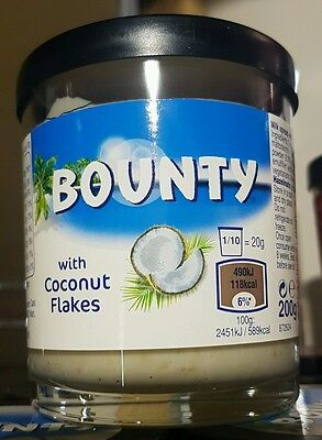 UK BOUNTY SPREAD with Coconut flakes 200g Jar