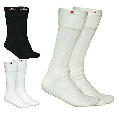New Scottish Irish White/Off White/Black Kilt Hose Socks Men Sporrans Flashes