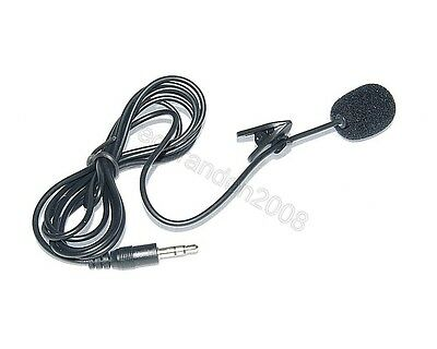 Lapel Tie Clip-on Microphone Mic Audio Plug 3.5mm 1.5m Cord Cable