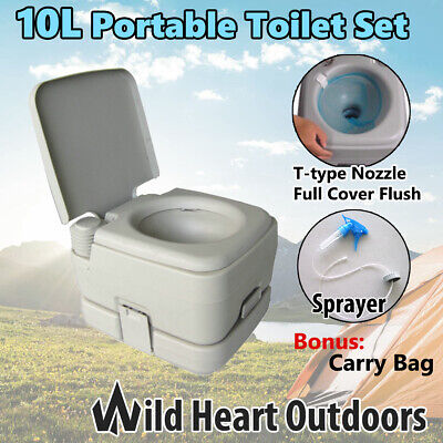10L Portable Toilet Potty W Carry Bag  Outdoor Camping Caravan Camp Boating