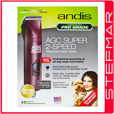 Andis Dog Clippers AGC2 Pro Clip 2 Super Speed with #10 Blade -Oster Wahl KM2