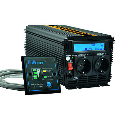 Pure Sine Wave Inverter 1000W 2000W DC 12V to AC 220V LCD multifunction display