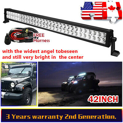 42Inch 240W Led Work Light Bar Spot Flood Combo 4Wd Driving Offroad Suv Atv Boat