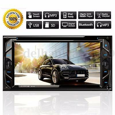 6.2'' Double 2 Din HD Car Stereo Radio DVD MP5 Player In Dash Bluetooth Touch