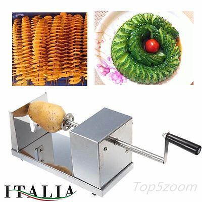 Pelapatate Spiral Potato Slicer Twister Cutter Carrot Cutting Machine Stainless