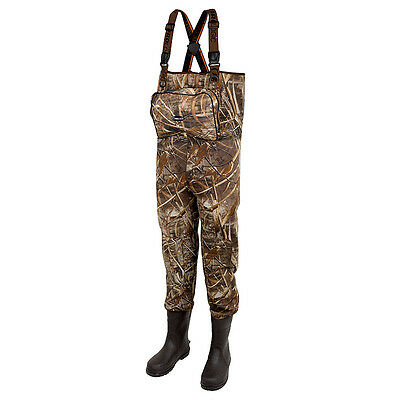 Prologic NEW Carp Fishing Max5 XPO Camo Neoprene Waders with Cleated Sole